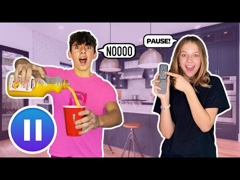 PAUSE CHALLENGE With My Crush **24 HOUR CHALLENGE** ⏸   DONLAD ft. Indi Star