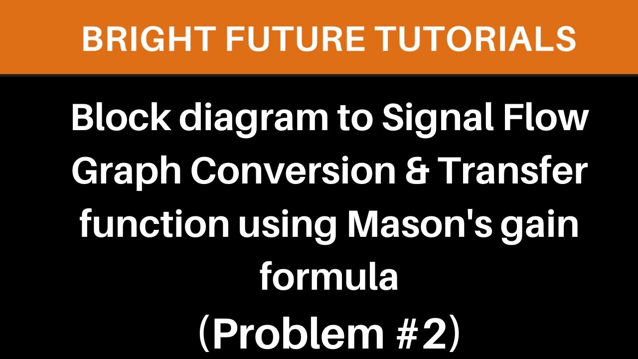Draw Signal Flow Graph From Block Diagram