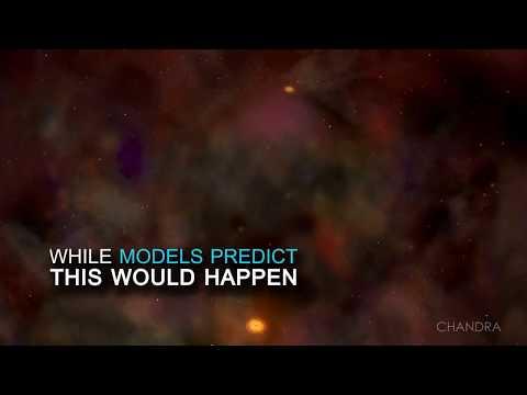 Científicos de la NASA hallaron agujeros negros supermasivos dobles