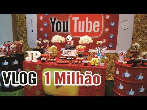 VLOG FESTA DE 1 MILHÃO MARIA CLARA E JP