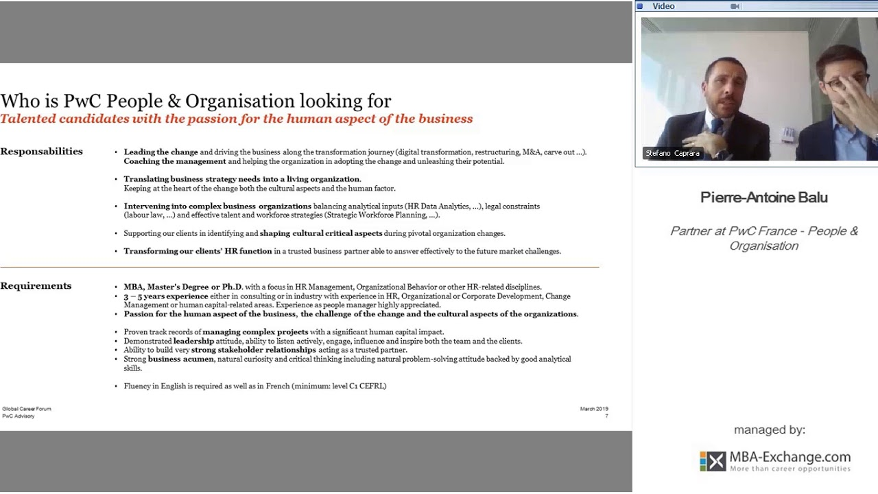 Who is PwC People and Organization Looking For? - #GCF19