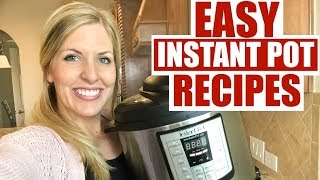 3 Easy Instant Pot Recipes! Perfect for Beginners! Ham, Ground Turkey, and Pork