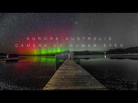 Aurora Australis : Camera VS Naked Eyes
