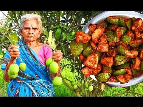 Organic Raw Mango pickle Recipe prepare my Grandma's | Mangoes contiments Traditional Avakaya Pickle