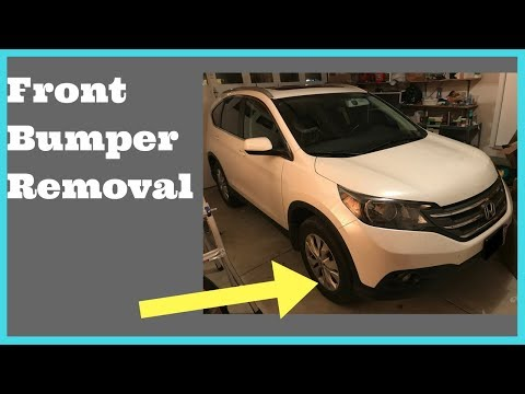 2012 2013 2014 Honda CRV Front Bumper Removal How to Remove Replace Install Grille