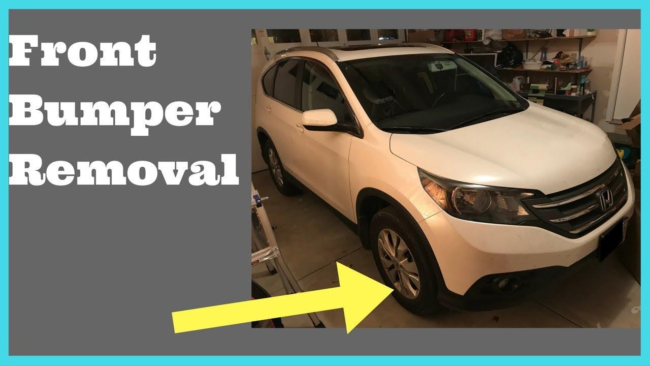 2012 2013 2014 honda crv front bumper removal how to remove replace honda cr v front bumper diagram [ 1280 x 720 Pixel ]