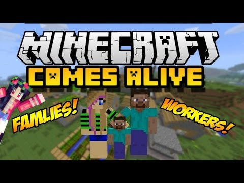 Villagers Come Alive MCPE Addon IOS And Android YouTube - Minecraft spiele android