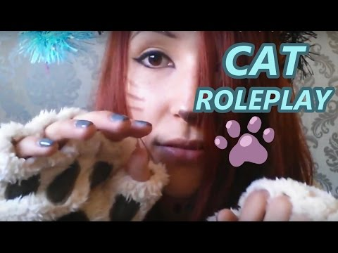ASMR - CAT ROLEPLAY ~ Meow Meow, Licking, Kneading, Scratching, Playing & MORE ~