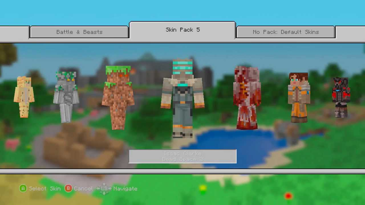 Minecraft Xbox Skin Pack 5 Is Here Youtube