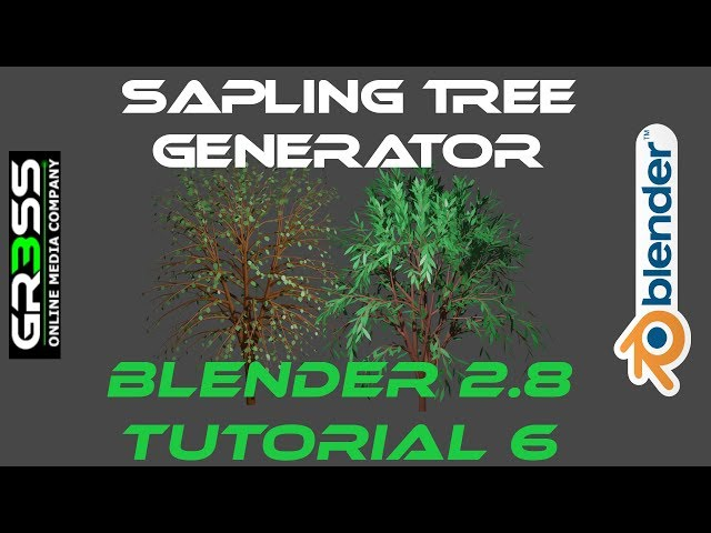 Sapling Tree Addon  in BLENDER 2.8 Tutorial 6 EEVEE
