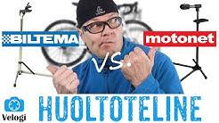 Millainen pyörän huoltoteline? Biltema vs. Motonet vertailu
