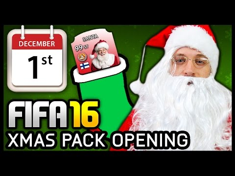 XMAS ADVENT CALENDAR PACK OPENING #1 - FIFA 16 ULTIMATE TEAM