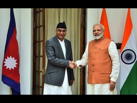 PM Modi with Prime Minister of Nepal Mr. Sher Bahadur Deuba at Joint Press Statements