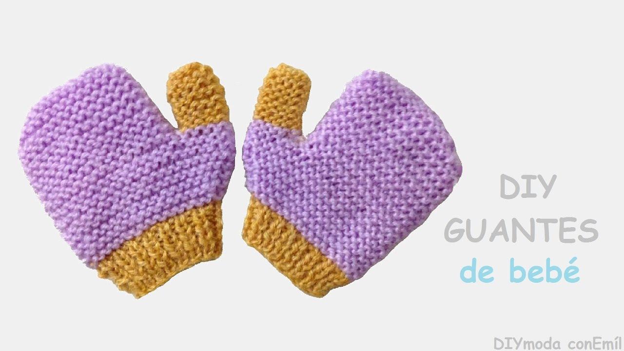 Cómo tejer guantes de bebé en dos agujas paso a paso - YouTube