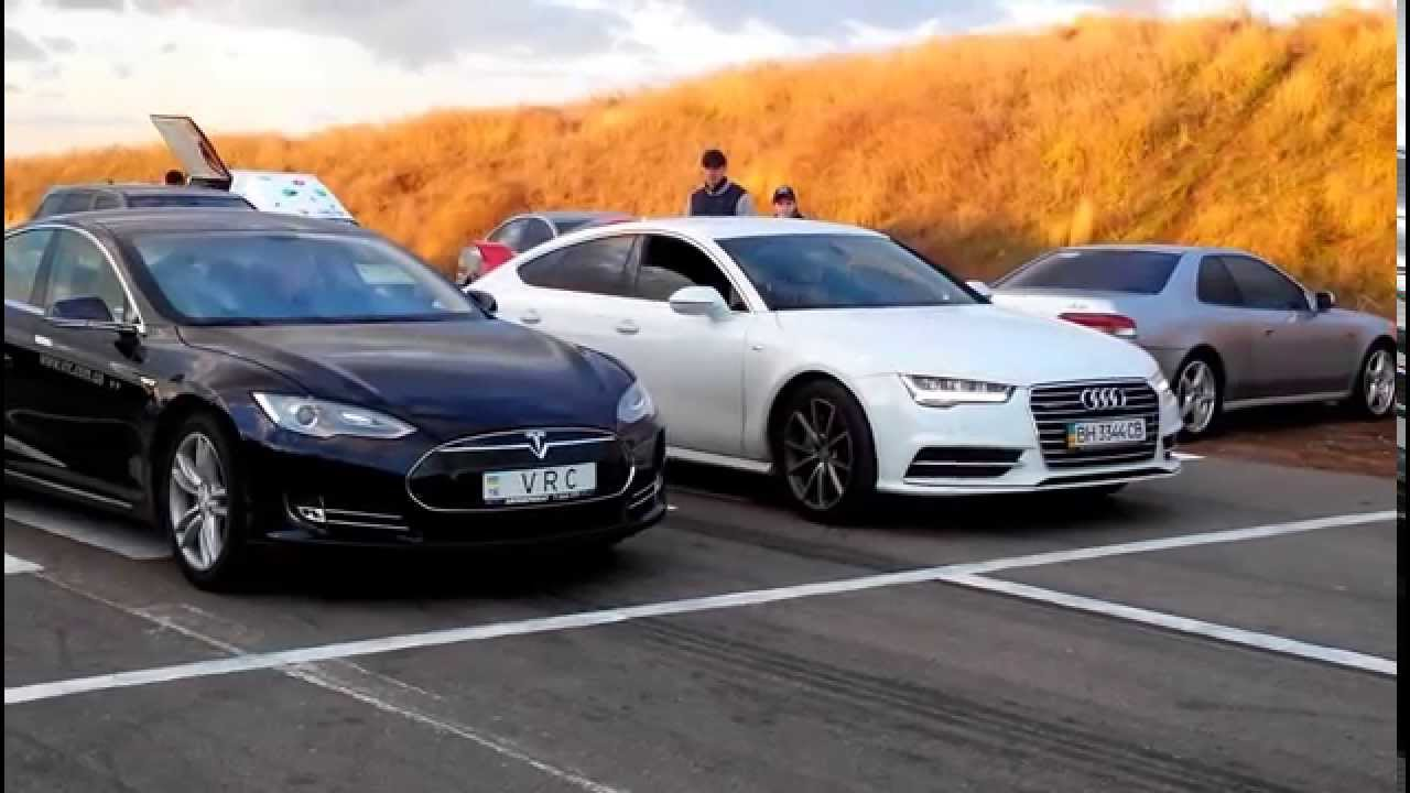 Tesla Model S Vs Audi A7 Tfsi Quattro Dragracing Драгрейсинг
