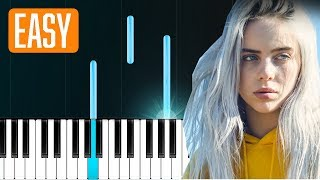 Billie Eilish - when the party's over (100% EASY PIANO TUTORIAL)