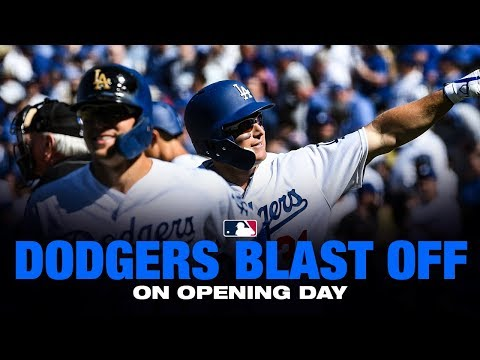 Dodgers crush eight home runs on Opening Day