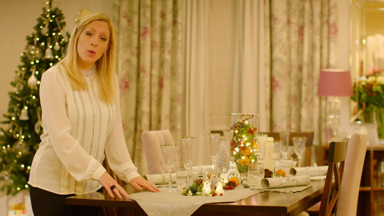 Laura ashley dressing your christmas table youtube Christmas table dressing