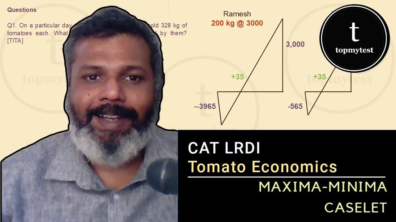Download CAT LRDI   Maxima Minima   Cases   Optimization   Tomato Economics   Difficult