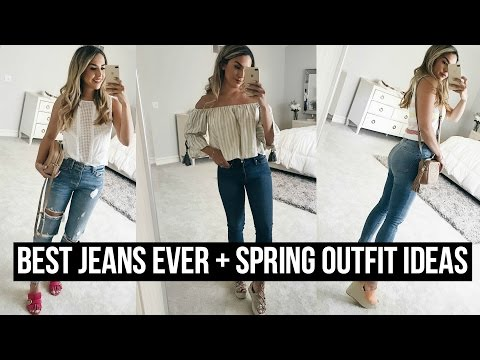 THE BEST JEANS EVER + HOW TO STYLE SPRING OUTFITS!