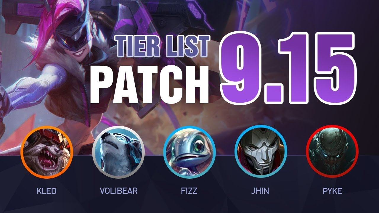 LoL Tier List [Patch 9 15] for Climbing Solo Queue - Mobalytics