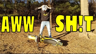 I ALREADY BROKE MY NEW PIT BIKE!! DIRT BIKE FAIL :(