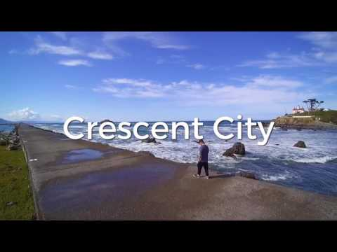 Drone view of crescent city