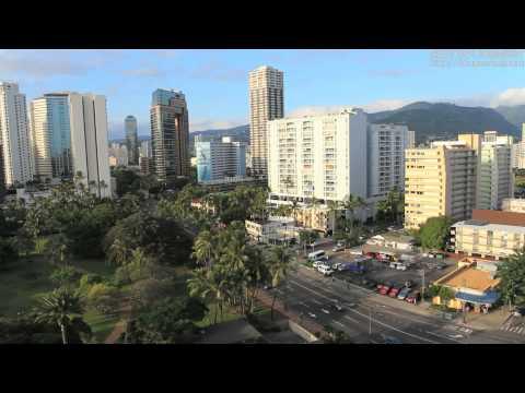 【自由に使える動画素材】ホノルルの街中映像 Honolulu Skyline 7