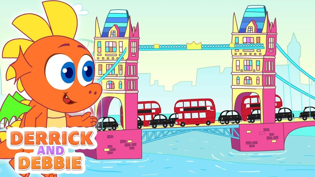 London Bridge Is Falling Down | Learn Poem For Kids With Derrick And Debbie