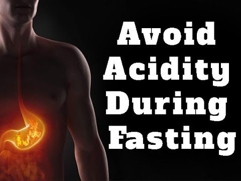what causes acid reflux when fasting