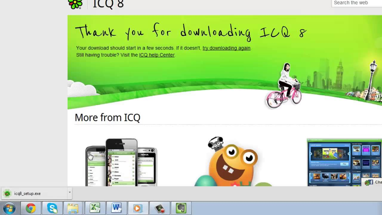 How to install ICQ on a computer 71
