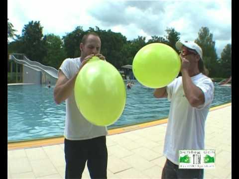 ballons platzen lassen