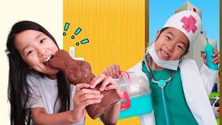 치과 병원놀이 양치질을 잘해요 거대 초콜릿 사탕 Giant Chocolate Wash hands Toothbrush 아엘튜브 Aeltube
