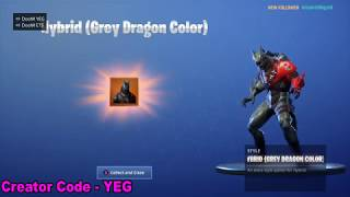 'NEW' UNLOCKING HYBRID STAGE 3 (GREY DRAGON COLOR STYLE) sur Fortnite Battle Royale Saison 8