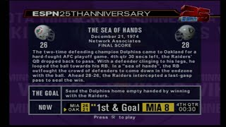 "ESPN NFL 2K5 25TH ANNIVERSARY CHALLENGES  -""THE SEA OF HANDS"" (NO COMMENTARY)"