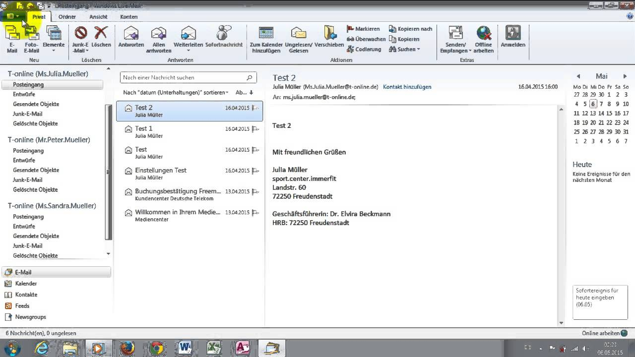 Windows 7 Tipps, Tricks P11 In Windows Live Mail 2012 E-Mail Konto entfernen - YouTube