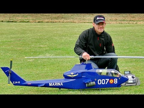 AH-1G COBRA RC SCALE MODEL ELECTRIC HELICOPTER FLIGHT DEMONSTRATION