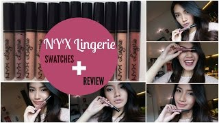NYX Lingerie Lip Swatches + Review   Bahasa Indonesia