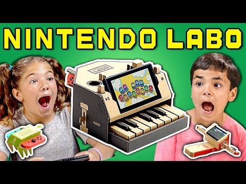 KIDS REACT TO NINTENDO LABO (Cardboard Video Games?!)