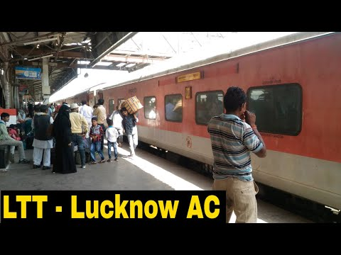 Mumbai to Lucknow Full Journey | 22121 LTT - Lucknow AC SF Express  | Inaugural Day Train Journey