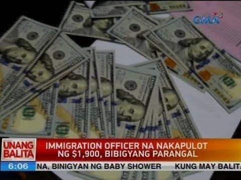 UB: Immigration officer na nakapulot ng $1,900, bibigyang parangal
