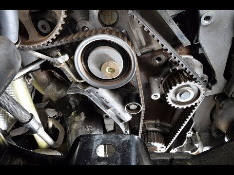 Audi A4 B6 18t How to replace timing belt - YouTube