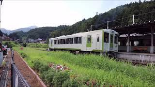 【JR飯山線】←列車が出発します→【森宮野原駅】