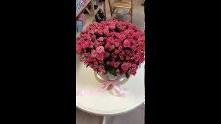 Цветы в шляпной коробке!!!! Доставка цветов в Полтаве и Полтавской области!(Подари цветы в шляпной коробке!!! - оригинальный подарок для девушки! 101 веточная роза в шляпной коробке!..., 2016-03-18T12:03:20.000Z)