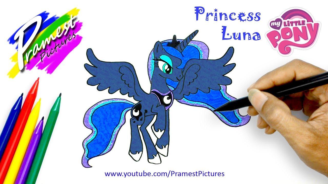 Putri Luna Cara Menggambar Dan Mewarnai Gambar Kuda Poni Untuk