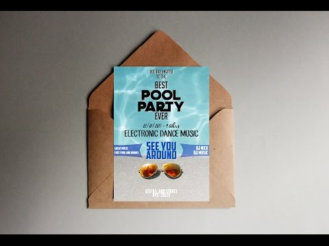Photoshop Mondays #22:  Creating A Simple Pool Party Invitation Card in Photoshop!