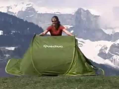 870a1f3a7 Como abrir e fechar a Barraca 2 Seconds Quechua   - YouTube
