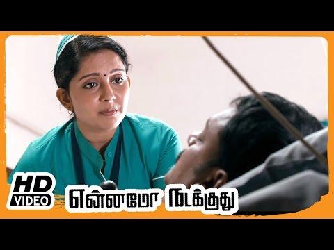 Yennamo Nadakkudhu Tamil Movie | Scenes | Vijay Vasanth Helps Azhagam Perumal | Mahima | Saranya