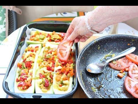 Bakina kuhinja - tikvice punjene povrćem božanstven ukus