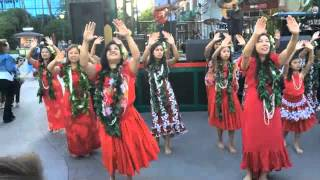 Valerie dancing Hula to The Greyson Loa Project @ Downtown Disney 4/18/15